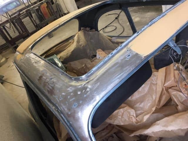 Schleif und Spachtelarbeiten Fiat 500
