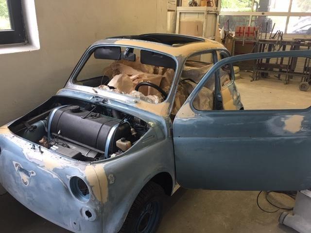 Spachtelarbeiten Fiat 500 Giannini